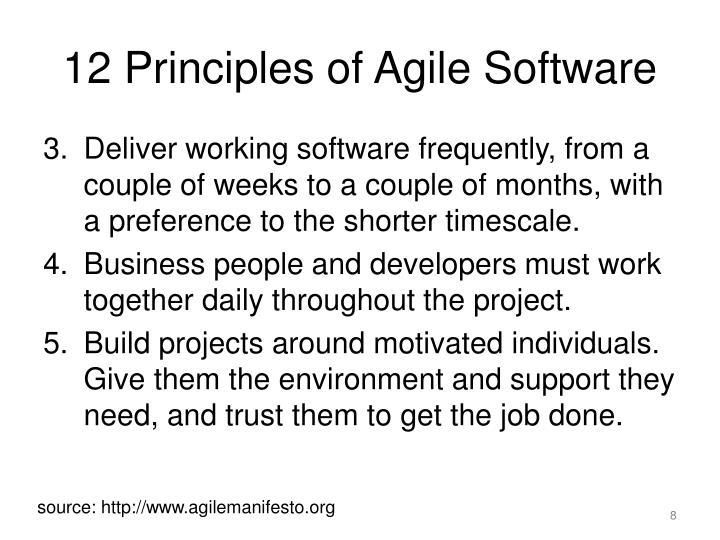 12 Principles of Agile Software