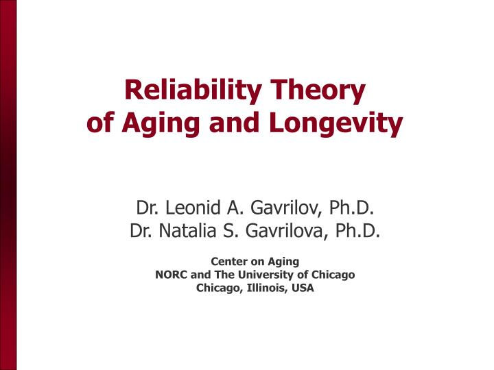 reliability theory of aging and longevity n.
