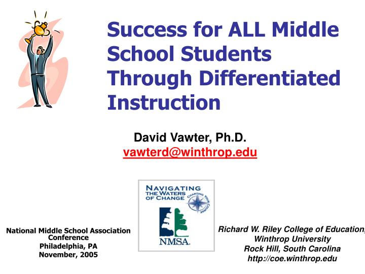 Differentiated Instruction Middle School User Guide Manual That