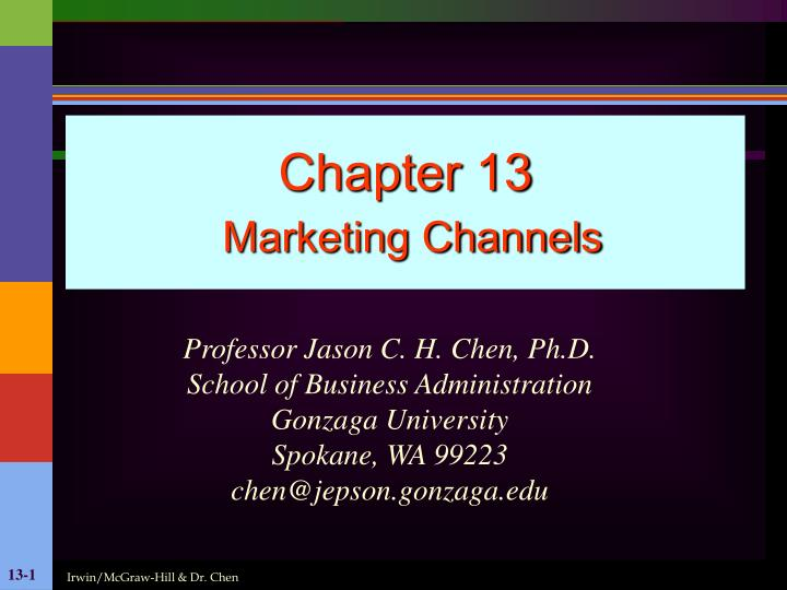 chapter 13 marketing channels n.
