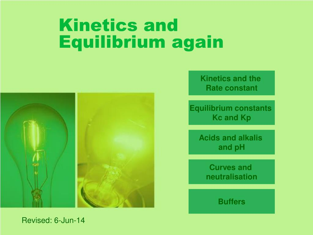 PPT - Kinetics and Equilibrium again PowerPoint ...