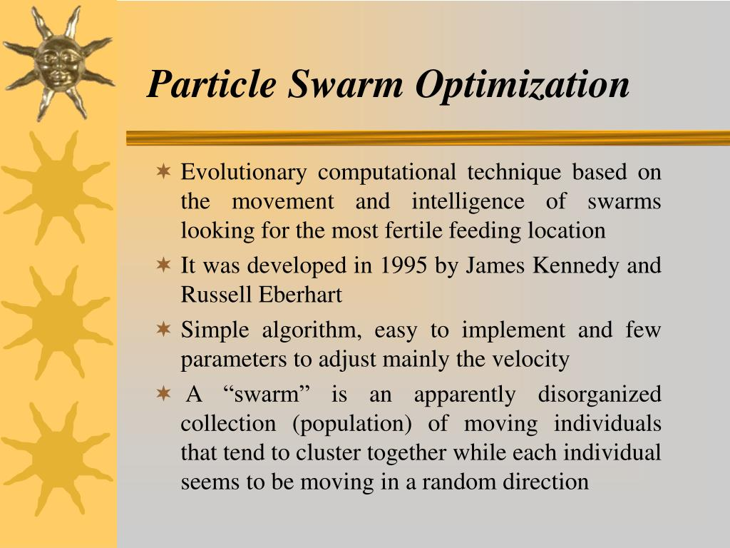 PPT - Particle Swarm Optimization (PSO) Algorithm and Its