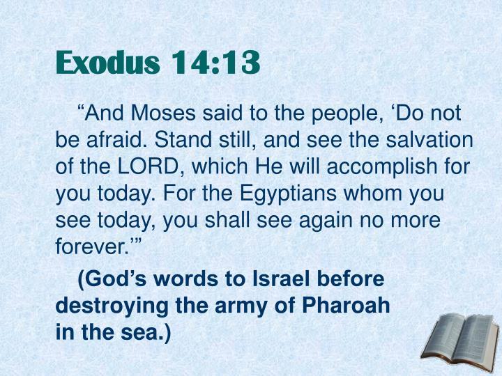 Exodus 14 13