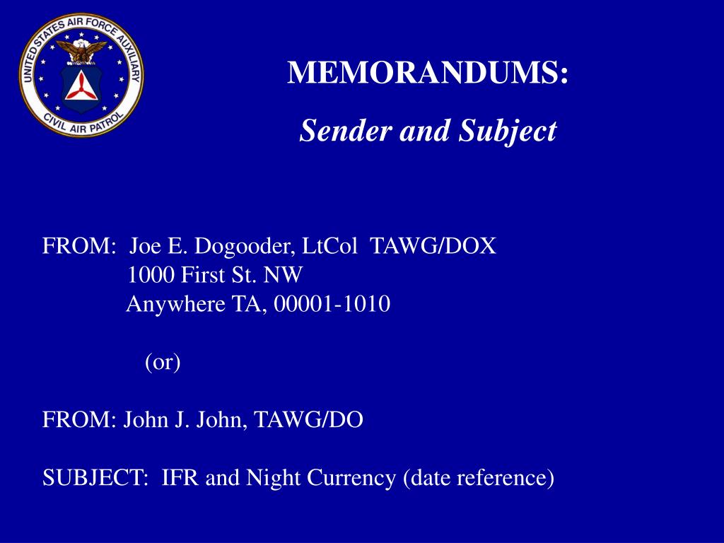 ppt - military style correspondence powerpoint presentation