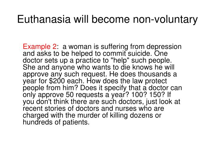 an argument that euthanasia is not murder