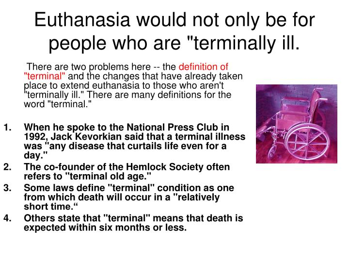 euthanasia thesis paper Euthanasia research papers and the ethical issue of the right to die are custom written at paper masters.