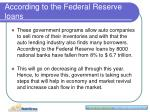 according to the federal reserve loans