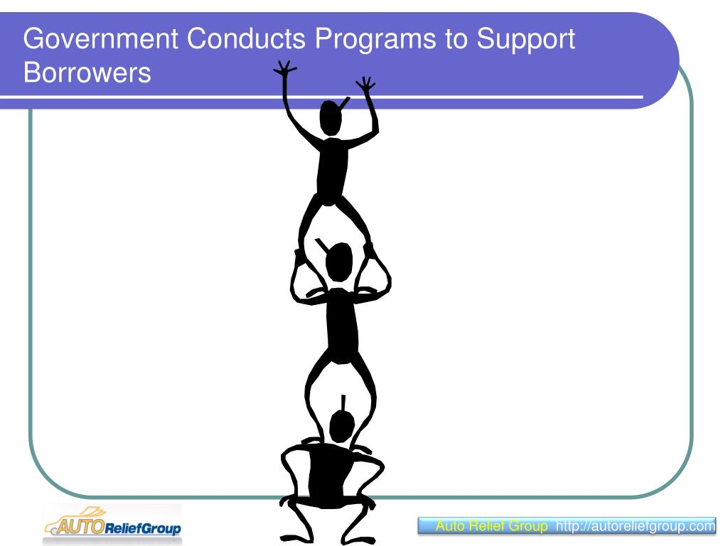 government conducts programs to support borrowers l.