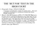 the but for test in the high court