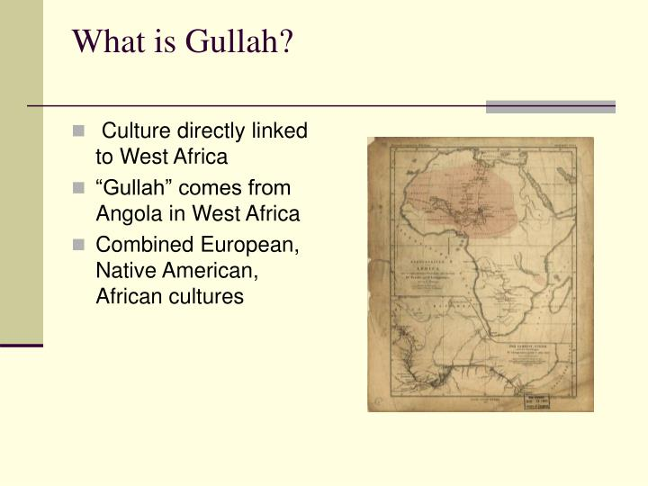 What is gullah