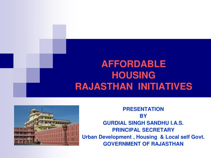 affordable housing rajasthan initiatives n.