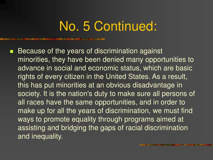 does affirmative action advance racial equality Ia affirmative action necessary to achieve racial equality in the us follow 10 answers 10.