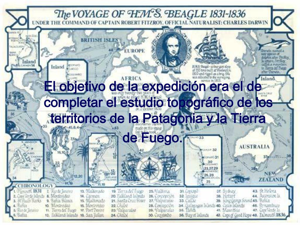 El objetivo de la expedición era el de completar el estudio topográfico de los territorios de la Patagonia y la Tierra