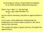 an example of using a finite difference method for an ode ordinary differential equation