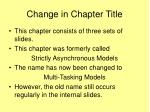 change in chapter title