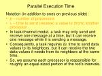 parallel execution time