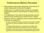 performance metrics revisited