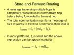store and forward routing