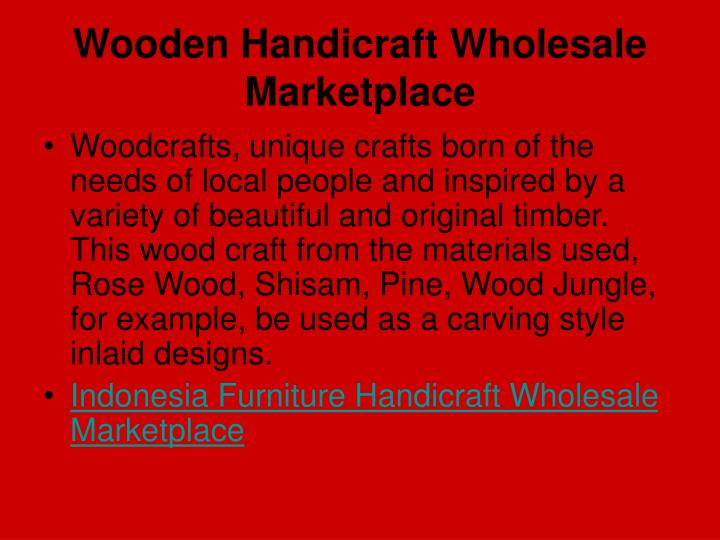 Wooden handicraft wholesale marketplace