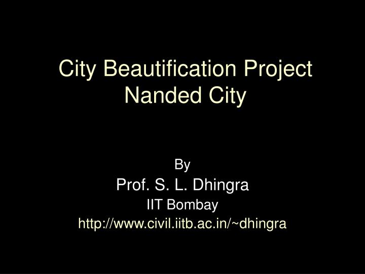 city beautification project nanded city n.