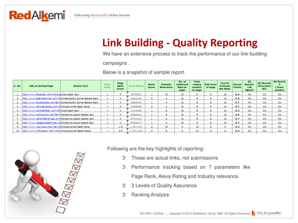 Link Building - Quality Reporting
