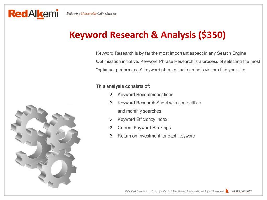 Keyword Research & Analysis ($350)