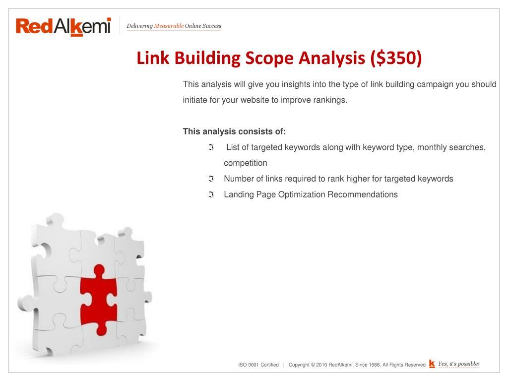 Link Building Scope Analysis ($350)