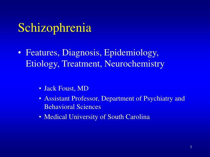 the main features of schizophrenia