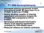 fy 2008 accomplishments