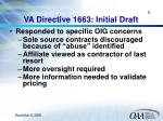 va directive 1663 initial draft
