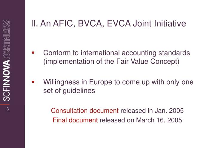 Ii an afic bvca evca joint initiative
