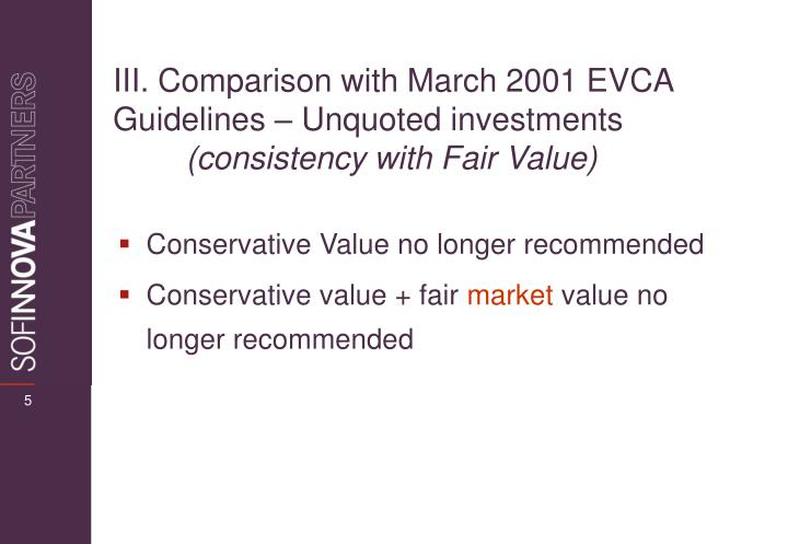 Conservative Value no longer recommended