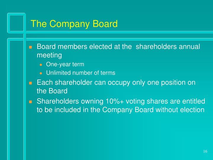 The Company Board
