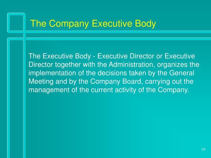 The Company Executive Body