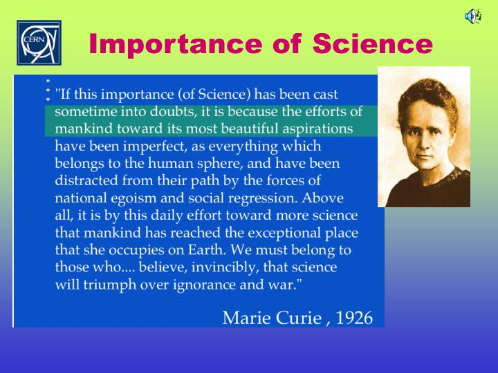 Importance of Science