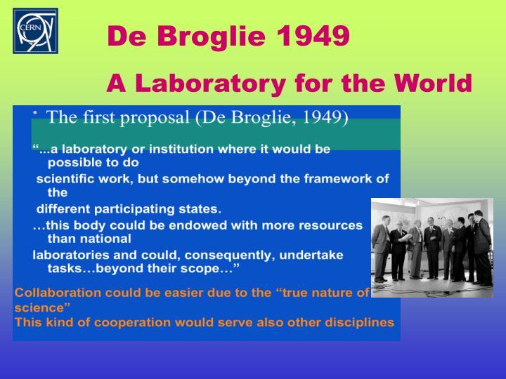 De Broglie 1949