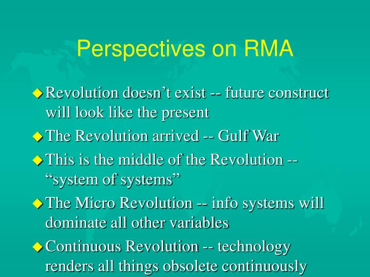 Perspectives on rma