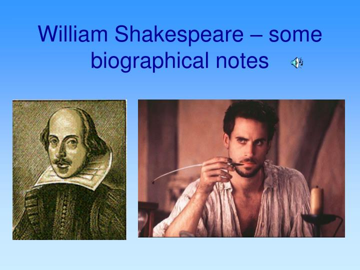 william shakespeare some biographical notes n.