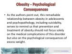 obesity psychological c onsequences