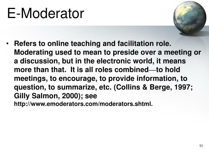 E-Moderator