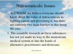 nutraceuticals issues