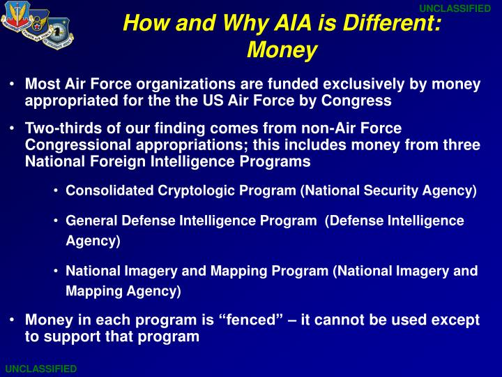 How and why aia is different money