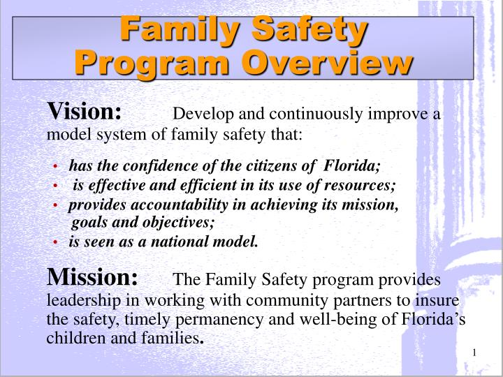 an analysis of my family safety plan Safety plan treatment manual to reduce suicide risk:  the safety plan is one component of comprehensive  the safety plan treatment manual to reduce suicide.