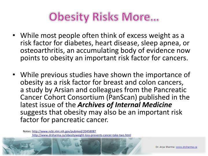 Obesity risks more