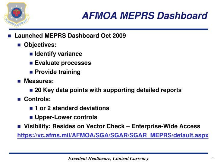 AFMOA MEPRS Dashboard