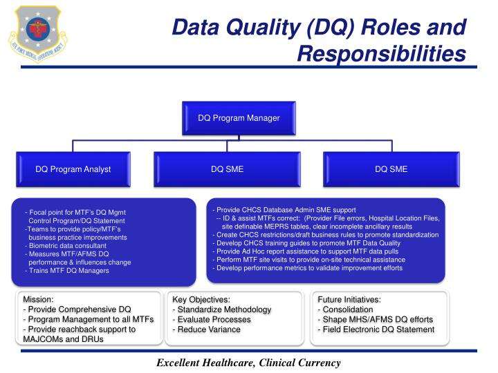 Data Quality (DQ) Roles and Responsibilities
