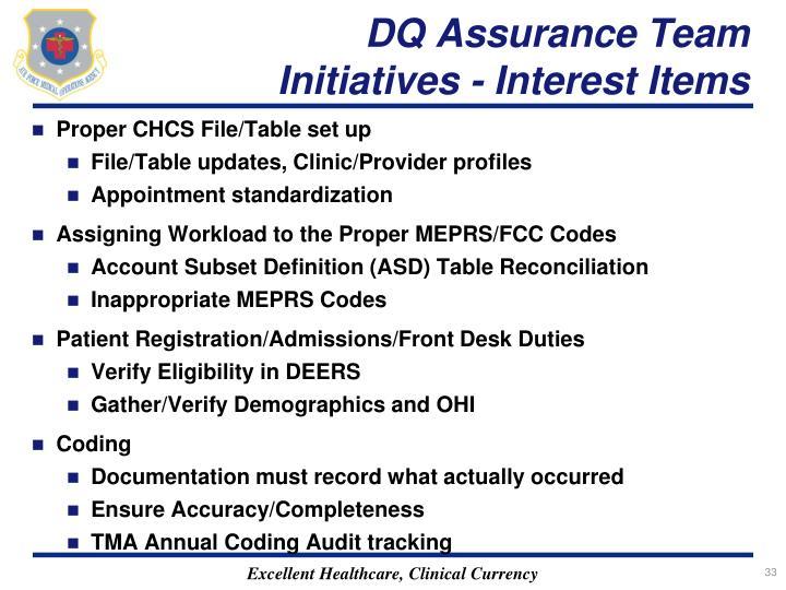 DQ Assurance Team
