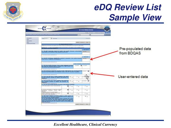 eDQ Review List