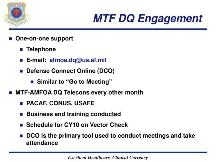 MTF DQ Engagement