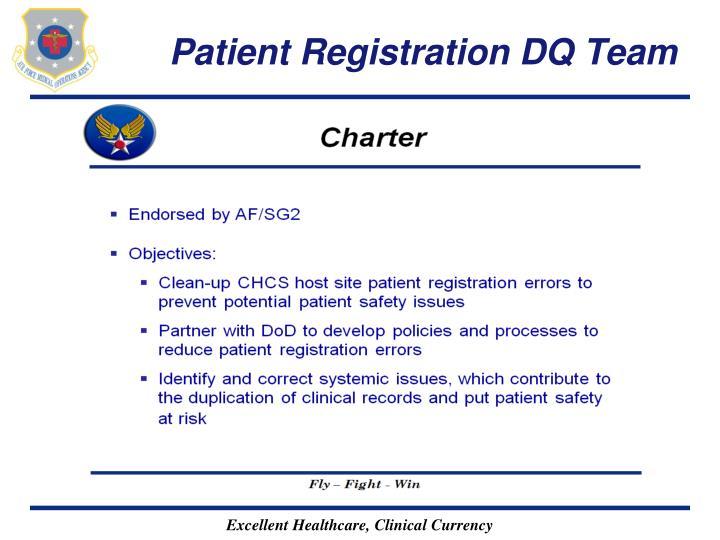 Patient Registration DQ Team